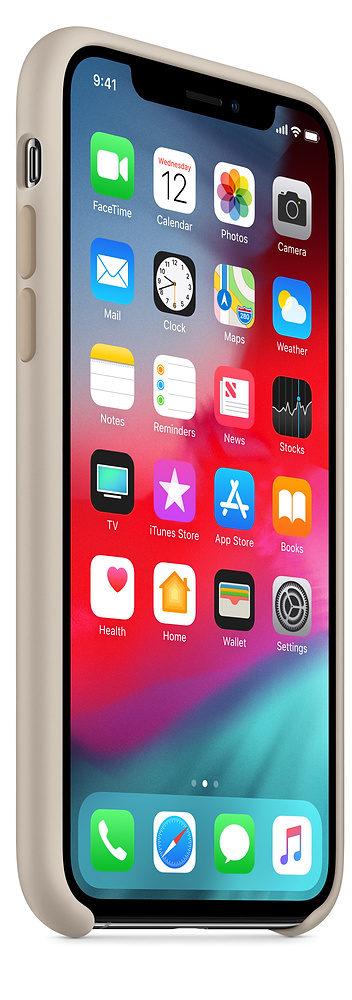Чехол iPhone XS Max Silicone Case - Stone