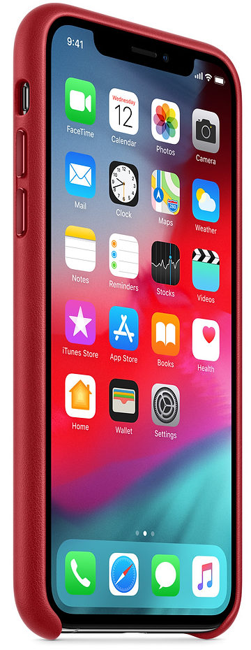 Чехол iPhone X/Xs Leather Case - (PRODUCT)RED