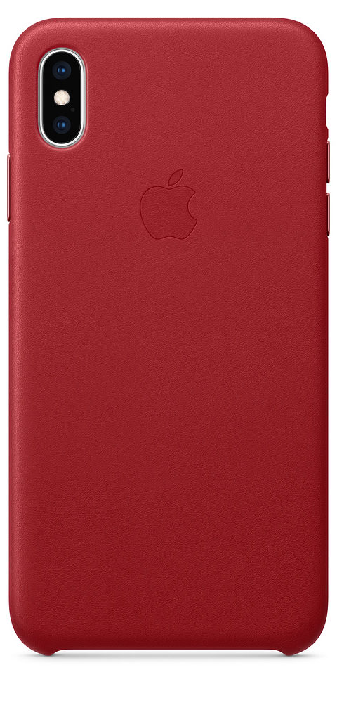 Чехол iPhone XS Max Leather Case - (PRODUCT)RED