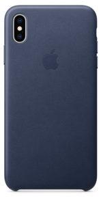 Чехол iPhone XS Max Leather Case - Midnight Blue