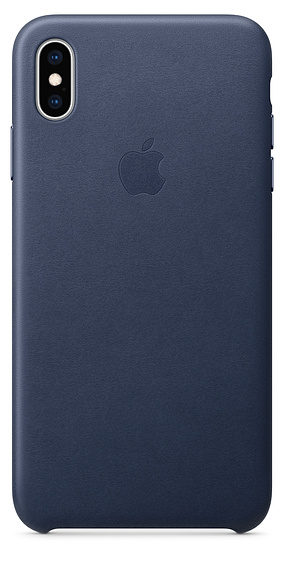 iPhone XS Max Leather Case — Midnight Blue