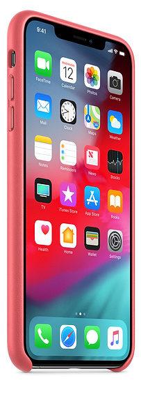 Чехол iPhone XS Max Leather Case - Peony Pink