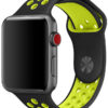 Ремешок Nike Sport Band Black/Volt for Apple Watch 42/44 mm 8312