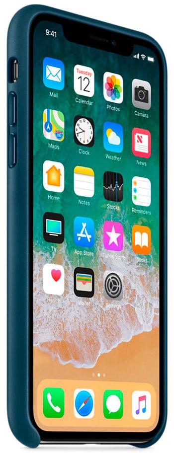 Чехол iPhone X/Xs Leather Case - Cosmos Blue