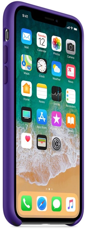 Чехол iPhone X/Xs Silicone Case - Ultra Violet