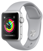 Apple Watch Series 3 (GPS) 38mm Silver Aluminum Case with Fog Sport Band MQKU2