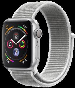 Apple Watch Series 4 GPS 40mm Silver Aluminum Case with Seashell Sport Loop (MU652)