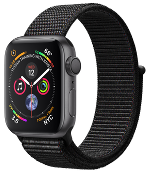 Apple Watch GPS 40mm Space Gray Aluminum Case with Black Sport Loop ( MU672)