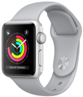Apple Watch Series 3 (GPS) 42mm Silver Aluminum Case with Fog Sport Band MQL02