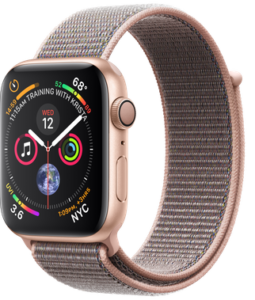 Apple Watch Series 4 GPS 44mm Gold Aluminum Case with Pink Sand Sport Loop ( MU6G2)