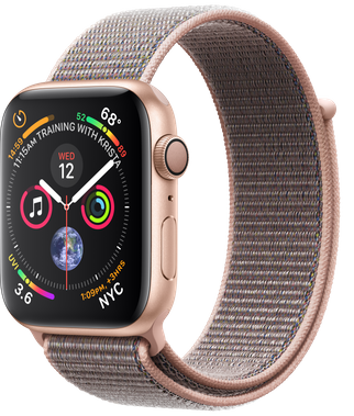 Apple Watch GPS 44mm Gold Aluminum Case with Pink Sand Sport Loop ( MU6G2)