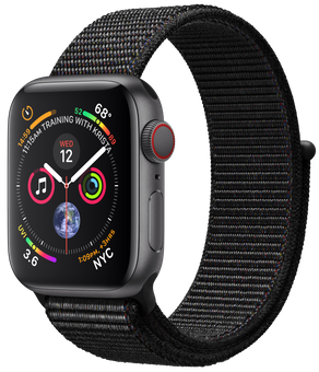 Apple Watch GPS + Cellular 40mm Space Gray Aluminum Case with Black Sport Loop (MTVF2)