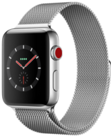 Apple Watch Series 3 GPS + Cellular 42mm Stainless Steel Case with Milanese Loop MR1J2
