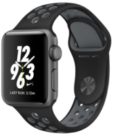 Apple Watch Nike Series 3, 38 mm Space Gray Aluminum Case with Black/Cool Gray Nike Sport Band MNYX2