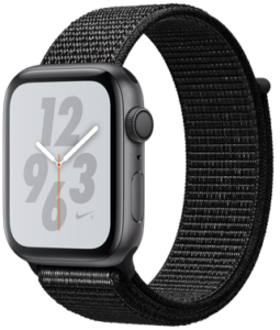 Apple Watch Nike Series 4 (GPS) 44mm Space Gray Aluminum Case with Black Nike Sport Loop MU7J2