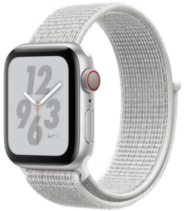 Apple Watch Nike Series 4 (GPS) 40mm Silver Aluminum Case with Summit White Nike Sport Loop MU7F2