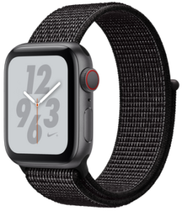 Apple Watch Nike Series 4 (GPS) 40mm Space Gray Aluminum Case with Black Nike Sport Loop MU7G2