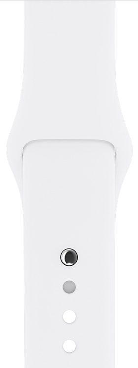 Apple White Sport Band для Watch 42/44 mm (MJ4M2, MTPK2)