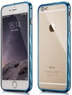 Бампер Xoomz Brushed Aluminium iPhone 6/6S Blue