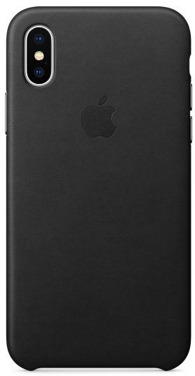 iPhone X/Xs Leather Case — Black