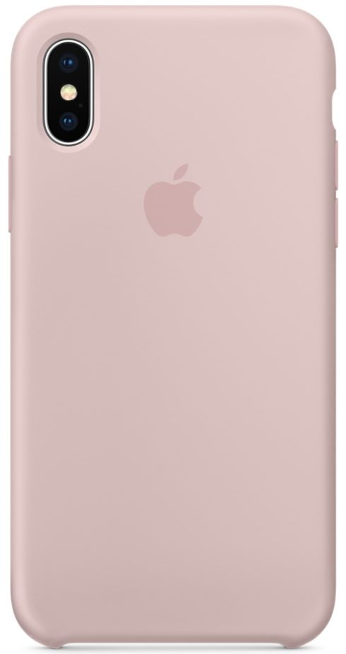 iPhone X/Xs Silicone Case — Pink Sand