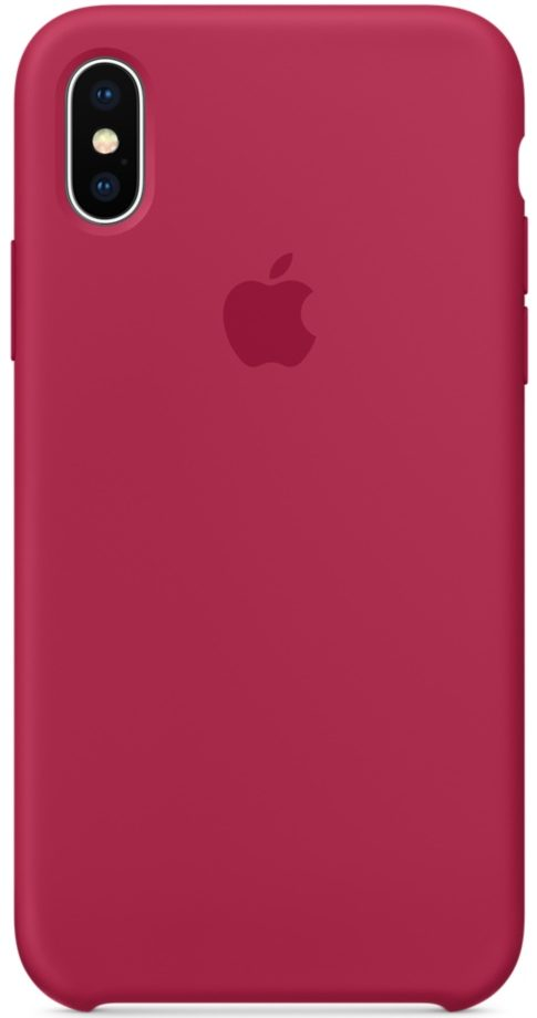 Чехол iPhone X/Xs Silicone Case - Rose Red