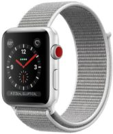 Apple Watch Series 3 GPS + Cellular 38mm Silver Aluminum Case with Seashell Sport Loop MQJR2
