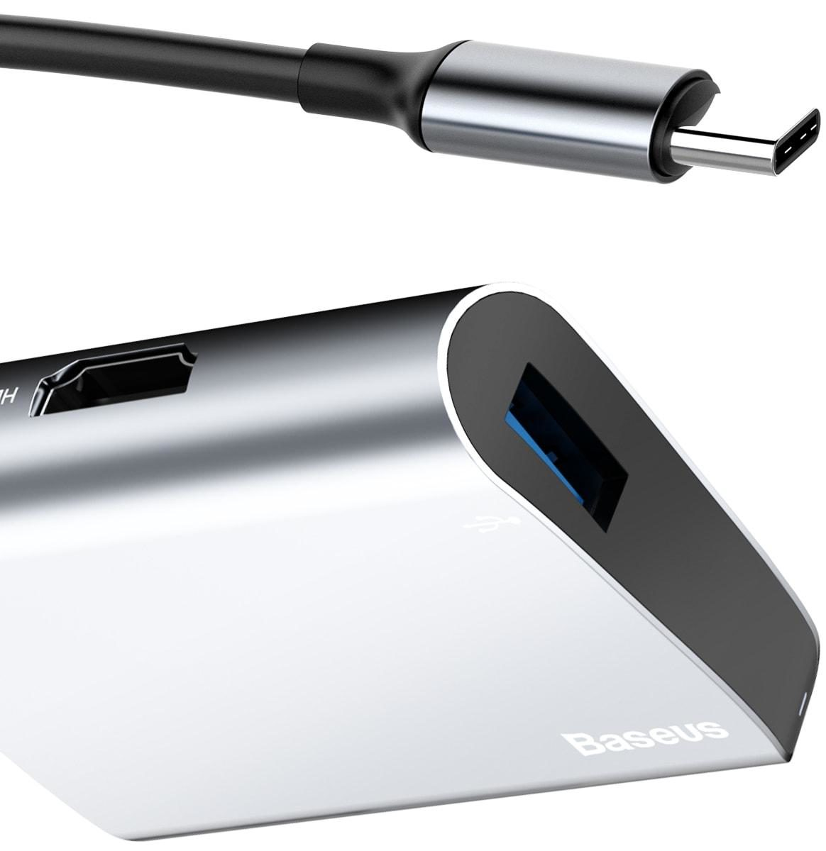 Baseus HUB Adapter USB-C Type C na USB 3.0 + HDMI