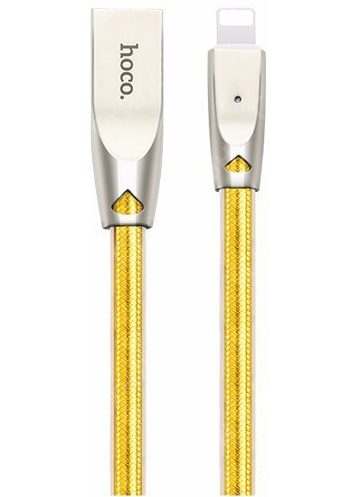 Кабель USB Hoco U9 Lightning 1.2m (Gold)