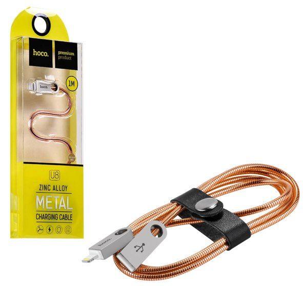 Кабель USB Hoco U8 Lightning Zinc Alloy Metal 1m Rose Gold