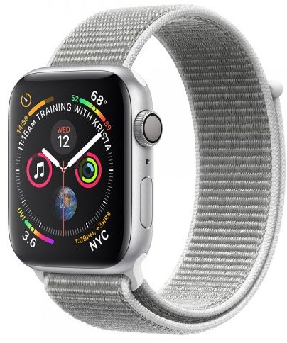 Apple Watch GPS + Cellular 40mm Silver Aluminum Case with Seashell Sport Loop (MTVC2)