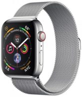 Apple Watch Series 4 GPS + Cellular 40mm Stainless Steel Case with Milanese Loop (MTVK2)