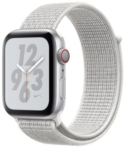 Apple Watch Nike Series 4 (GPS) 44mm Silver Aluminum Case with Summit White Nike Sport Loop MU7H2