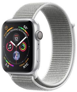Apple Watch Series 4 GPS 44mm Silver Aluminum Case with Seashell Sport Loop ( MU6C2)