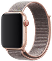Apple Watch Series 4 GPS + Cellular 40mm Gold Aluminum Case with Pink Sand Sport Loop (MTVH2)