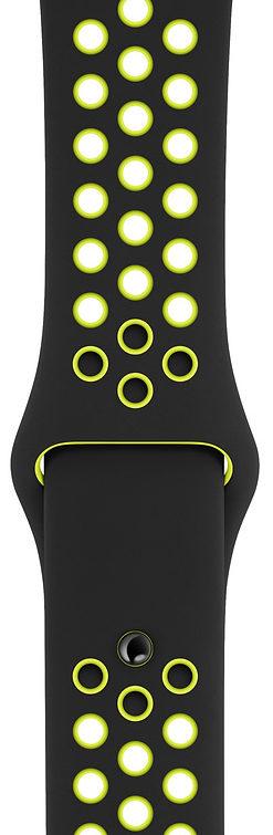 Apple Black/Volt Nike Sport Band для Watch 38/40 mm (MQ2H2, MTMN2)