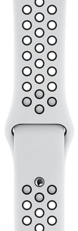Apple Pure Platinum/Black Nike Sport Band для Watch 38/40 mm (MQ2J2, MTMQ2)