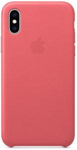 Чехол iPhone X/Xs Leather Case - Peony Pink
