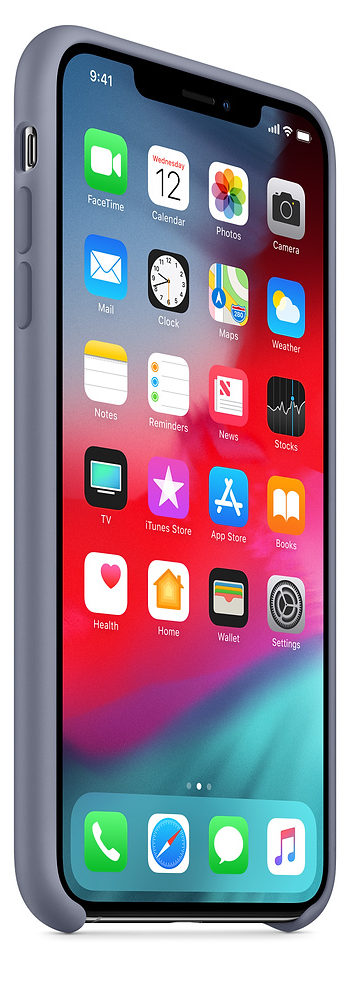 Чехол iPhone XS Max Silicone Case - Lavender Gray