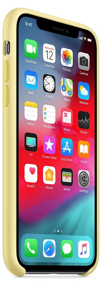 Чехол iPhone XS Max Silicone Case - Mellow Yellow