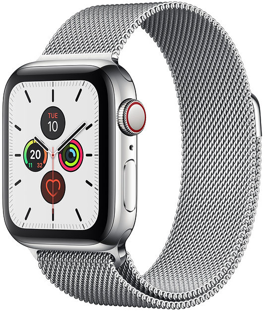 Apple Watch Series 5 44mm GPS + Cellular Stainless Steel Case with Milanese Loop (MWW32)