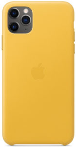 Чехол iPhone 11 Pro Leather Case - Meyer Lemon