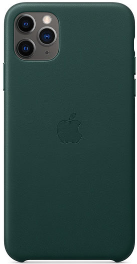 Чехол iPhone 11 Pro Max Leather Case - Forest Green