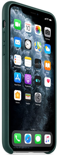 Чехол iPhone 11 Pro Leather Case - Forest Green