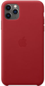 Чехол iPhone 11 Pro Leather Case - (PRODUCT)RED
