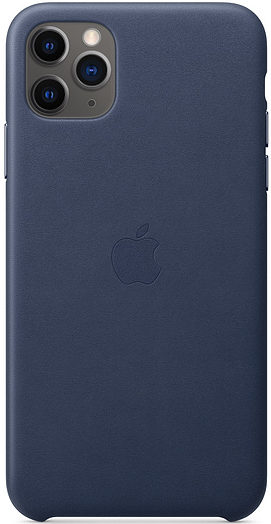 Чехол iPhone 11 Pro Max Leather Case - Midnight Blue