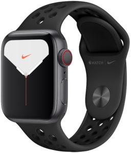 Apple Watch Nike Series 5 44mm GPS + Cellular Space Gray Aluminum Case with Anthracite/Black Nike Sport Band (MX3A2)