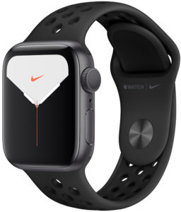 Apple Watch Nike Series 5 44mm GPS Space Gray Aluminum Case with Anthracite/Black Nike Sport Band (MX3W2)