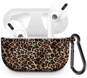 Чехол для AirPods PRO silicone с карабином picture /leopard/