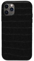Чехол iPhone 12 Pro Max /6,7''/ Leather crocodile case - Черный